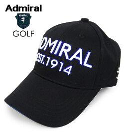 ADMIRAL GOLF (アドミラル ゴルフ) ツイルキャップ [ユニセックス] ADMB008F 【BLK(10)/F】ブラック ロゴ CAP 帽子 ギフト プレゼント【あす楽】