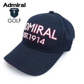 ADMIRAL GOLF (アドミラル ゴルフ) ツイルキャップ [ユニセックス] ADMB008F 【NVY(30)/F】ネイビー ロゴ CAP 帽子 ギフト プレゼント【あす楽】
