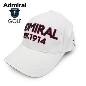 ADMIRAL GOLF (アドミラル ゴルフ) ツイルキャップ [ユニセックス] ADMB008F 【WHT(00)/F】ホワイト ロゴ CAP 帽子 ギフト プレゼント【あす楽】
