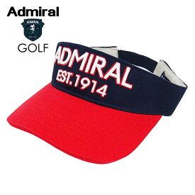 ADMIRAL GOLF (アドミラル ゴルフ) ツイル VISOR [ユニセックス] ADMB821F 【TRC(90)/F】ツイルバイザー サンバイザー トリコロール 小平智 堀琴音 ギフト【あす楽】