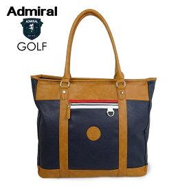 ADMIRAL GOLF (アドミラル ゴルフ) PUトート [ユニセックス] ADMZ0ST4【NVY(30)/F】ホワイト バッグ 小平智【店頭受取対応商品】【あす楽】