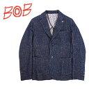 BOB Company(ボブカンパニー) シングルジャケット [メンズ] 072791106 WALES106【NVY(84)/48・50・52サイズ】ネイビー ウールジャケット テーラードジャケット