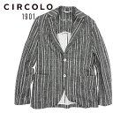 【20%OFF】CIRCOLO 1901 (チルコロ) シングル ジャケット [メンズ] CN2604【BLK/44・46・48・50・52サイズ】ジャージジャケット ストレッチ ストライプ Safari LEON 掲載ブランド【店頭受取対応商品】【あす楽】