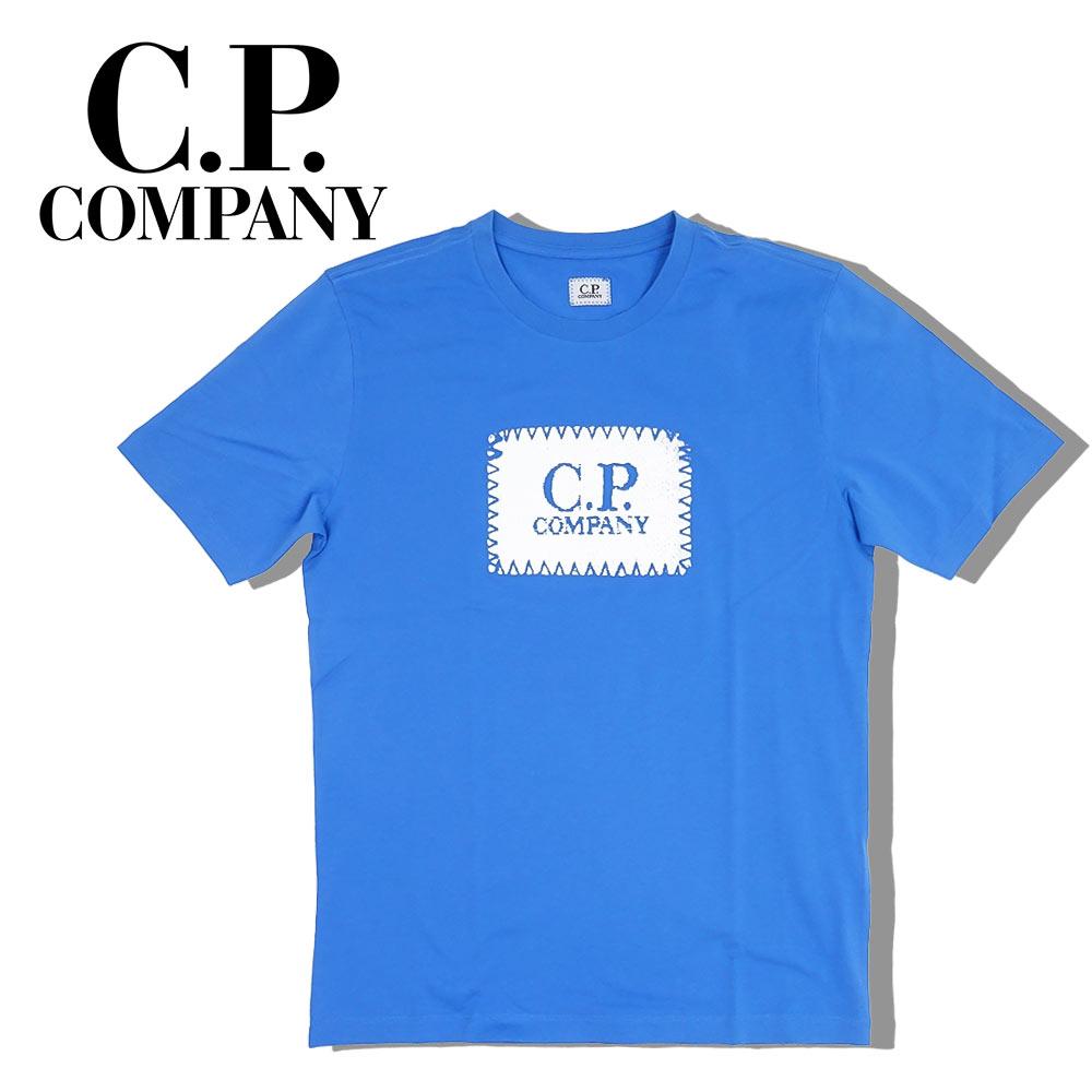 【ネコポス対応】C.P.COMPANY (シーピーカンパニー) T-SHIRTS - SHORT SLEEVE [メンズ] 06CMTS042A 【BLU(864)/XS・S・M・L・XL・XXLサイズ】 ブルー ショートスリーブ クルーネック 半袖Tシャツ【店頭受取対応商品】【あす楽】