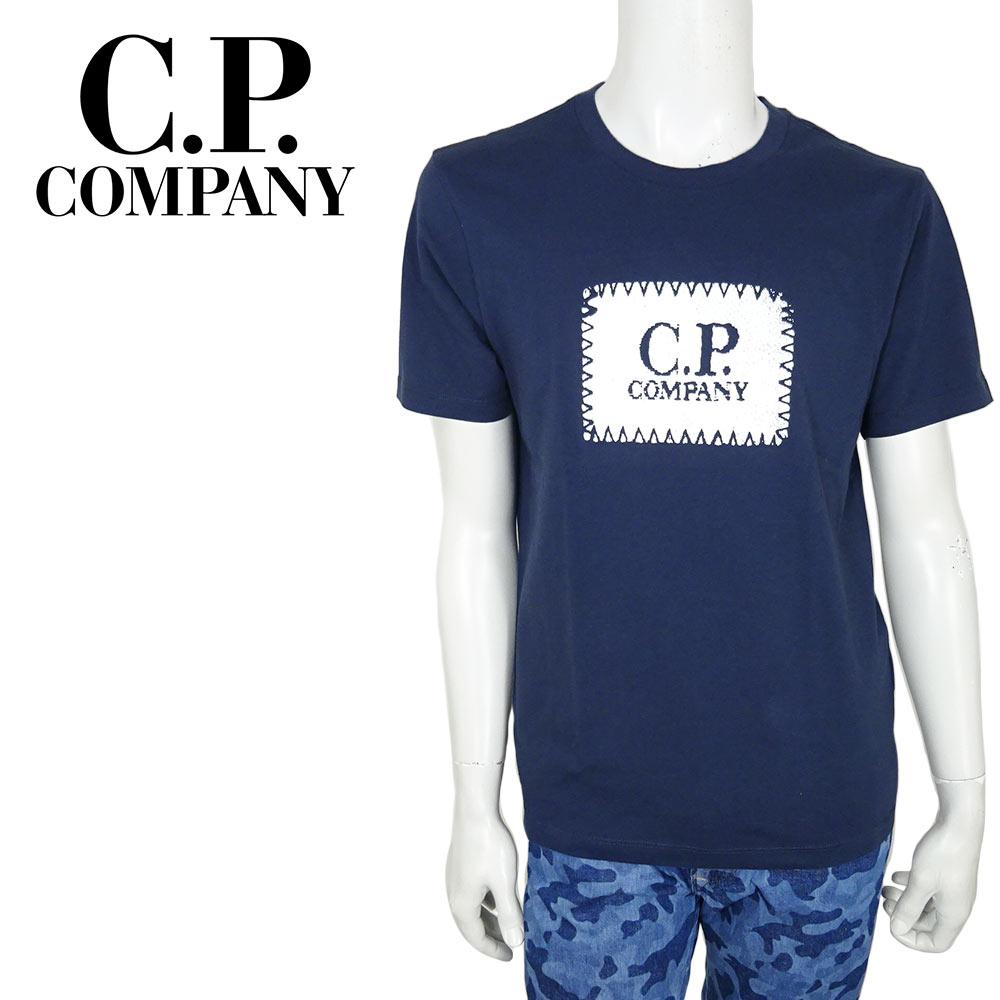 【ネコポス対応】C.P.COMPANY (シーピーカンパニー) T-SHIRTS - SHORT SLEEVE [メンズ] 06CMTS042A 【NVY(888)/XS・S・M・L・XL・XXLサイズ】 ネイビー ショートスリーブ クルーネック 半袖Tシャツ【店頭受取対応商品】【あす楽】
