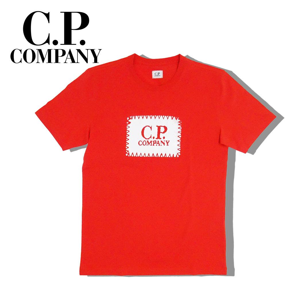 【ネコポス対応】C.P.COMPANY (シーピーカンパニー) T-SHIRTS - SHORT SLEEVE [メンズ] 06CMTS042A 【RED(547)/XS・S・M・L・XL・XXLサイズ】 レッド ショートスリーブ クルーネック 半袖Tシャツ【店頭受取対応商品】【あす楽】