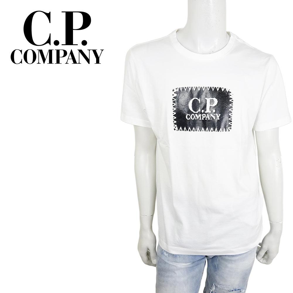 【ネコポス対応】C.P.COMPANY (シーピーカンパニー) T-SHIRTS - SHORT SLEEVE [メンズ] 06CMTS042A 【WHT(101)/XS・S・M・L・XL・XXLサイズ】 ホワイト ショートスリーブ クルーネック 半袖Tシャツ【店頭受取対応商品】【あす楽】