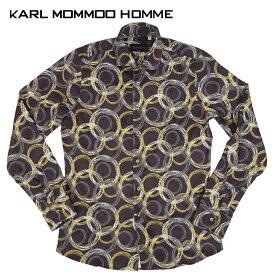 【40%OFF】KARL MOMMOO(カールモンモー) 総柄コーデュロイシャツ [メンズ] EU22711 NIXON【BWN/M・Lサイズ】ブラウン 長袖 イタリア製【あす楽】