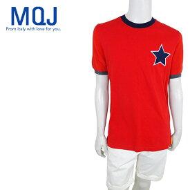 【50%OFF】【ネコポス対応】MQJ (エムキュージェイ) ショートスリーブリンガーTシャツ [メンズ] 1314【RED(6064)/S・M・Lサイズ】 レッド 半袖Tシャツ スター イタリア製【店頭受取対応商品】【あす楽】