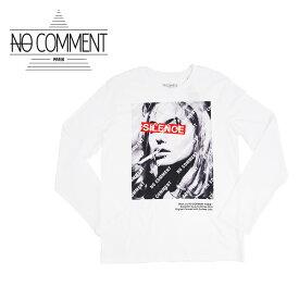 【30%OFF】NO COMMENT PARIS (ノーコメントパリ) LONG SLEEVES M-CREW JP diagonal nc [メンズ] LTM-LTN170-1【WHT/S・M・L・XLサイズ】ホワイト 長袖 Tシャツ ロンT パリ発 フランス製【店頭受取対応商品】【あす楽】