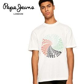 【ポイント5倍】【50%OFF】Pepe Jeans (ペペジーンズ) プリント Tシャツ [メンズ] MARVIN FRONT PRINT T-SHIRT PM507163 【WHT/XS・S・M・L・XLサイズ】サーフ クルーネック ショートスリーブ 半袖【ネコポス対応】【あす楽】