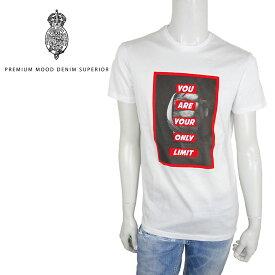 【40%OFF】P.M.D.S (ピーエムディーエス) 半袖 Tシャツ [メンズ] 910591384150 KNOCK 【WHT/XS・S・M・L・XLサイズ】ノック ショートスリーブ クルーネック グラフィック イタリア製 PMDS【店頭受取対応商品】【あす楽】