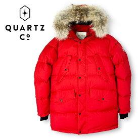 【40%OFF】QUARTZ (クォーツ) フーデッドダウンジャケット [メンズ] LUTSE 38730【RED/M・L・XL・XXLサイズ】レッド ファー セミスリムフィット カナダ製【店頭受取対応商品】【あす楽】