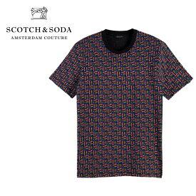 【ポイント5倍】【30%OFF】SCOTCH&SODA (スコッチ&ソーダ) プリントクルーネック Tシャツ [メンズ] 292-14417 Printed Crew Neck T-Shirt【MLT(90) /S・M・L・XLサイズ】 155399 半袖 ショートスリーブ oceans safari【ネコポス対応】【あす楽】