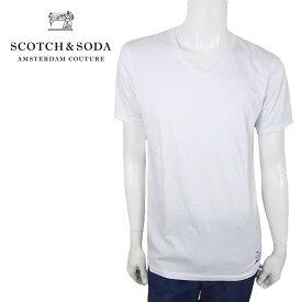 【50%OFF】【ネコポス対応】SCOTCH&SODA (スコッチ&ソーダ) Tシャツ [メンズ] 292-74417 Vneck T【WHT /S・M・L・XL・XXLサイズ】149006 定番 無地Tシャツ 半袖 ショートスリーブ Vネック oceans safari 掲載ブランド【店頭受取対応商品】【あす楽】