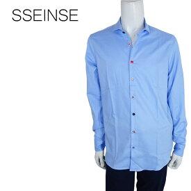 SSEINSE (センス) オックスフォードシャツ [メンズ] CI458SS 【BLU/S・M・Lサイズ】ブルー 長袖 ホリゾンタルカラー【店頭受取対応商品】【あす楽】
