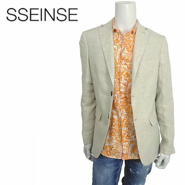 【送料無料】SSEINSE (センス) シングルジャケット [メンズ] GAE372SS【BEG/46・48・50サイズ】 テーラード リネン 麻 ベージュ イタリア製 Safari掲載ブランド【あす楽】【店頭受取対応商品】