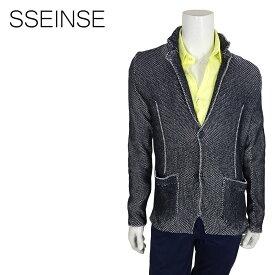 【ポイント5倍】【50%OFF】SSEINSE (センス) ニットジャケット [メンズ] GAE447SS【NVY/S・M・L・XL・XXLサイズ】ネイビー シングルジャケット コットンジャケット【店頭受取対応商品】