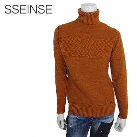 【50%OFF】SSEINSE (センス) タートルネック セーター [メンズ] MI1134SS 【BWN/S・M・Lサイズ】 ジャガード編み ローゲージ ニット【店頭受取対応商品】【あす楽】