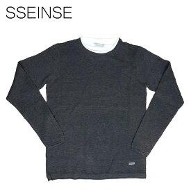 SSEINSE (センス) レイヤードニット [メンズ] MI1444SS 【DGY/S・M・L・XL・XXLサイズ】ダークグレー セーター カノコ ワッフル【店頭受取対応商品】【あす楽】