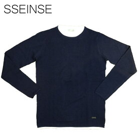 SSEINSE (センス) レイヤードニット [メンズ] MI1444SS 【NVY/S・M・L・XL・XXLサイズ】ネイビー セーター カノコ ワッフル【店頭受取対応商品】【あす楽】