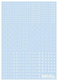ハイキューパーツ ACD−A−WH アクセントデカールA(1枚入) ホワイト【配送日時指定不可】
