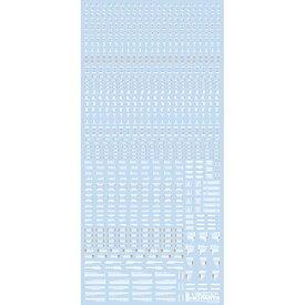 ハイキューパーツ RB01−100WAO 1/100 ホワイト&オレンジ RB01 コーションデカール (1枚入)【配送日時指定不可】