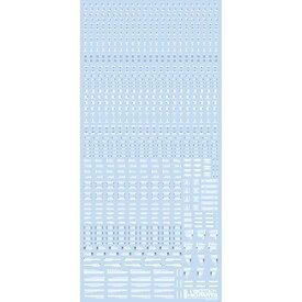 ハイキューパーツ RB01−100WAG 1/100 ホワイト&グレー RB01 コーションデカール (1枚入)【配送日時指定不可】