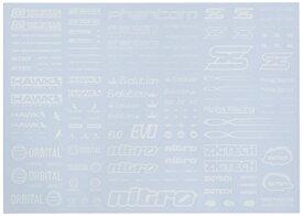 ハイキューパーツ SLD01S−WH スポンサーロゴデカール01S ホワイト(1枚入)【配送日時指定不可】