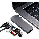 USB Type C ハブ MacBook Pro/Air 最新型 6-IN-1 USB-C ハブ PD充電 ポート USB3.0ポート SD/Micro SDカードリーダー …