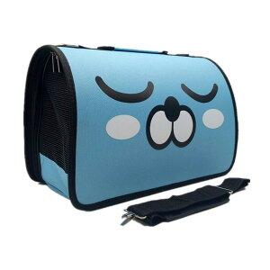 ペット用キャリーバッグ 通気性 ドッグバッグ キャットバッグ 折りたたみ式ワンショルダーポータブルメッセンジャーバッグ ライトブルー Lサイズ