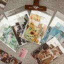 海外マスキングテープ素材フレークシール70枚■全8種類■Instagram風 写真■カラー別 花 フラワー 海外フレークシール…