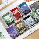 海外 マスキングテープ素材ミニシールブック□全6種類□50枚シールシート綴り カラー別 写真 Instagram風 インスタグ…