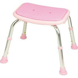 【キャッシュレス5%還元】幸和製作所 テイコブ シャワーチェア(背無) ピンク 1台