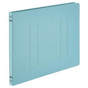 【送料無料】【法人(会社・企業)様限定】フラットファイルE A4ヨコ 150枚収容 背幅18mm ブルー 1セット(100冊:10冊×10パック)