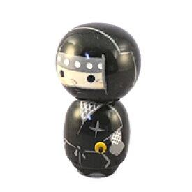 【キャッシュレス5%還元】こけし 忍者 黒【返品・交換・キャンセル不可】【逸品館】