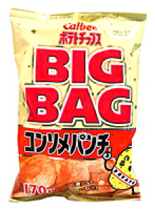 【キャッシュレス5%還元】カルビー(株) ポテトチップス コンソメパンチ ビッグバッグ 170g【イージャパンモール】