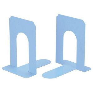 【送料無料】【法人(会社・企業)様限定】ライオン事務器 ブックエンド T型 大 ライトブルー 1セット(20枚:2枚×10組)
