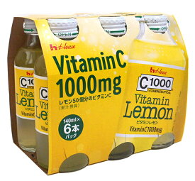 【キャッシュレス5%還元】ハウス C-1000ビタミンレモン 140ml 6本パック【イージャパンモール】