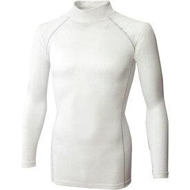 【キャッシュレス5%還元】BODY TOUGHNESS BT織柄チェック ハイネックシャツ ホワイト LL JW−172【イージャパンモール】