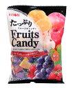 ★まとめ買い★ リボン たっぷりフルーツキャンディ120g ×10個【イージャパンモール】