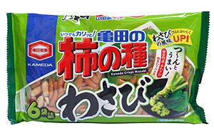 【送料無料】★まとめ買い★ 亀田製菓 亀田の柿の種わさび6袋詰 ×12個【イージャパンモール】
