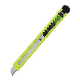 【キャッシュレス5%還元】カッターナイフ 標準型 黄緑【返品・交換・キャンセル不可】【イージャパンモール】