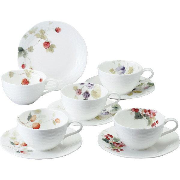 【送料無料】ナルミ ルーシーガーデン アソートティー・コーヒー碗皿5客セット 96010−23067P【代引不可】【ギフト館】