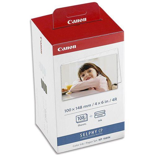 CANON カラーインク/ペーパーセット KP?108IN(ポストカードサイズ写真用紙108枚+インクカセット3個) 1セット