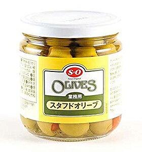 S=O スタフドオリーブ 瓶入 330g【イージャパンモール】