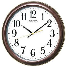 【キャッシュレス5%還元】【送料無料】セイコー 電波掛時計  茶メタリック KX234B【代引不可】【ギフト館】