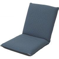 低反発和風座椅子ブルーST−010BL