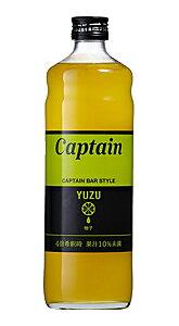 ★まとめ買い★ キャプテン 柚子 瓶 600ML ×12個【イージャパンモール】