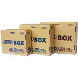【送料無料】【個人宅届け不可】【法人(会社・企業)様限定】日本サニパック エコノプラスBOX 半透明 45L 1箱(100枚)